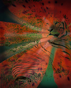 Combined Framed Prints - Tigerlily Framed Print by Janeen Wassink Searles