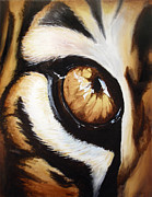 Contemporary Animal  Acrylic Paintings - Tigers Eye by Lane Owen