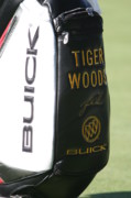 Tiger Woods Photos - Tigers Golf Bag by Chuck Kuhn
