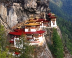 Tigers Prints - Tigers Nest Bhutan Print by Jim Kuhlmann