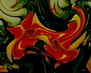 Tigers On The Prowl Abstract Print by Rene Crystal