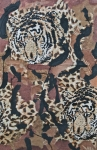 Mammals Mixed Media Prints - Tigers Tigers Burning Bright Print by Ruth Edward Anderson