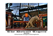 Baseball Stadiums Acrylic Prints - Tigers Win Acrylic Print by Dave Manning