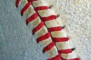 Baseball Seams Photo Metal Prints - Tight Metal Print by Bill Owen