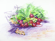 Leaf Pastels Originals - Tight bunch by Elena Liachenko