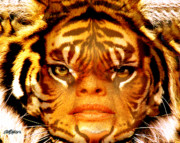 Tigress Digital Art - Tigress by Seth Weaver