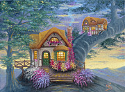 Chimney With Smoke Posters - Tigs Cottage from Arboregal Poster by Dumitru Sandru