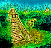 Mayan Ruins Pastels - Tikal by jrr by First Star Art