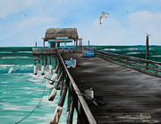 Tiki Bar Painting Prints - Tiki Bar is Open Print by Bruce Reigle