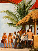 Tiki Bar Painting Prints - Tiki Bar Print by Joe Bergholm