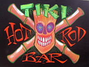 Tiki Bar Painting Prints - Tiki Hot Rod Bar Print by Alan Johnson