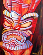Marionette Paintings - Tiki Man by Marionette Taboniar