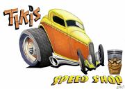 Cartoon Originals - Tiki Speed Shop by Lyle Brown