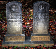 Head Stones Digital Art Posters - Til Death Do Us Part Poster by DigiArt Diaries by Vicky Browning