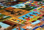 Tiled Canvasses Print by Andy Smy