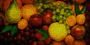 Tiles Pyrography Posters - Tiled Fruit  Poster by Mauro Celotti