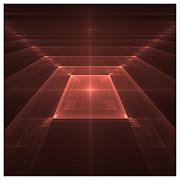 Tiled Squares II Print by David Rose