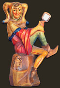 Wood Carving Posters - Till Eulenspiegel - The Merry Prankster Poster by Christine Till