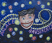 Asbury Park Funhouse Painting Originals - Tillies Brite Lights by Patricia Arroyo