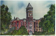Tigers Paintings - TILLMAN HALL ONE Clemson by Patrick Grills