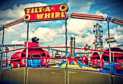 Whirl Posters - Tilt-A-Whirl Carnival Ride Poster by Eye Shutter To Think
