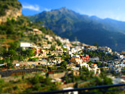 Italy Art - Tilt Shift Amalfi Coast by Elaine Snyder