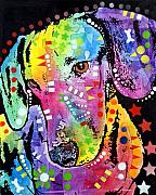 Dachshund  Art Mixed Media - Tilted Dachshund by Dean Russo