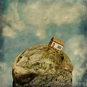 Sonya Kanelstrand Prints - Tilted House Print by Sonya Kanelstrand