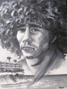 Singers Paintings - Tim Buckley by Ken Meyer jr