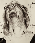 Splatter Drawings - Tim by Emily Jones