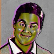 Celebrity Digital Art Prints - Tim Heidecker Print by Fay Helfer