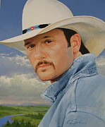 Country Music Painting Originals - Tim McGraw by Cliff Spohn