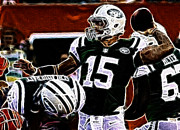 Sports Art Photo Metal Prints - Tim Tebow  -  NY Jets Quarterback Metal Print by Paul Ward