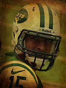 Pigskin Prints - Tim Tebow - New York Jets - Timothy Richard Tebow Print by Lee Dos Santos