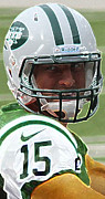 Tim Tebow Photo Framed Prints - Tim Tebow Art Deco - New York Jets -  Framed Print by Lee Dos Santos