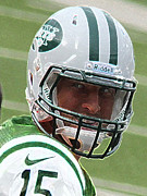 Tim Tebow Photos - Tim Tebow Art Deco III - New York Jets -  by Lee Dos Santos