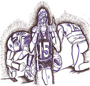 Player Drawings - Tim Tebow glory by HPrince De Artist