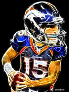 Denver Broncos Framed Prints - Tim Tebow Framed Print by Stephen Younts