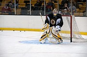 Goaltender Metal Prints - Tim Thomas Metal Print by Mike Martin