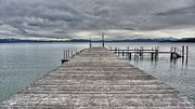 Dock Acrylic Prints - Timber Cove Pier Lake Tahoe by Brad Scott