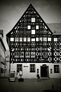 Architectural Styles Framed Prints - Timber-frame house Weimar Framed Print by Christine Till