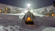 Oregon Scenery - Timberline Lodge Entry Mt Hood Snowdrifts by Dustin K Ryan