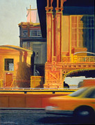 Cities Pastels - Time and Motion Study by Michael Cook