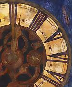 Clock Paintings - Time Askew by Barb Pearson