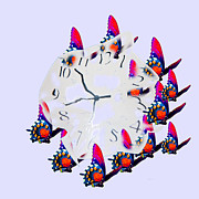 Clock Hands Digital Art Prints - Time Bubble Print by Betsy A Cutler East Coast Barrier Islands