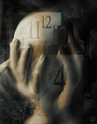 Clock Hands Digital Art Posters - Time confusion Poster by Gun Legler
