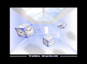 Surrealism Posters - Time Cubed Poster by Mike McGlothlen