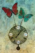 Aimelle Prints Metal Prints - Time Flies Metal Print by Aimelle