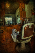 Metal Pole Photos - Time for a Cut - Old Barbershop - vintage - nostalgia by Lee Dos Santos
