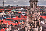 Sky Line Framed Prints - Time for Munich Framed Print by Anthony Citro